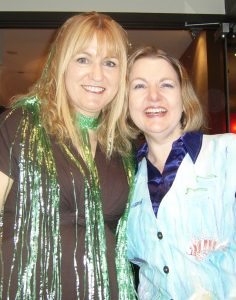 Louise Cusack (left) and Cheryse Durrant dressed up for the Under the Sea Costume Ball at NatCon 2012.