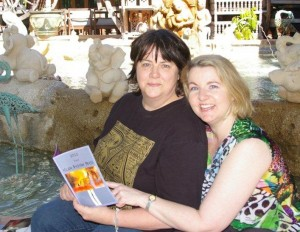 Lindy Cameron with her newest author, Cheryse Durrant (that's me!)