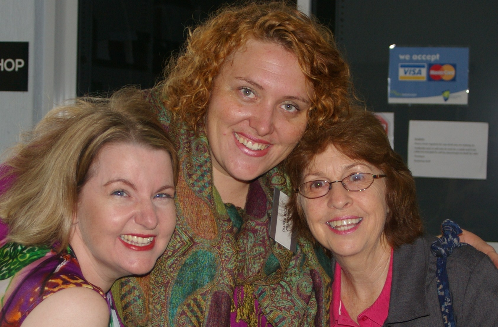 Cheryse Durrant, Di Wills and Sandy Curtis at WriteFest 2012.