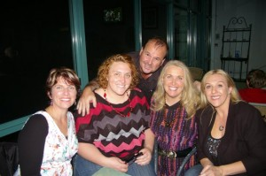 Di Wills with friends at the Bargara Golf Club
