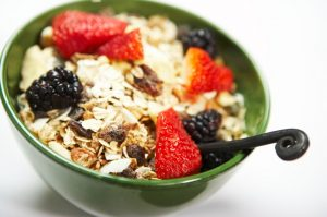 Muesli and yoghurt