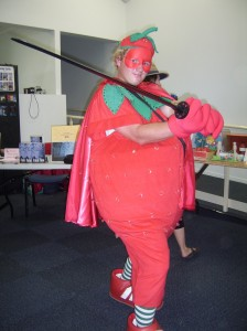 Look! It's Strawberry Man!
